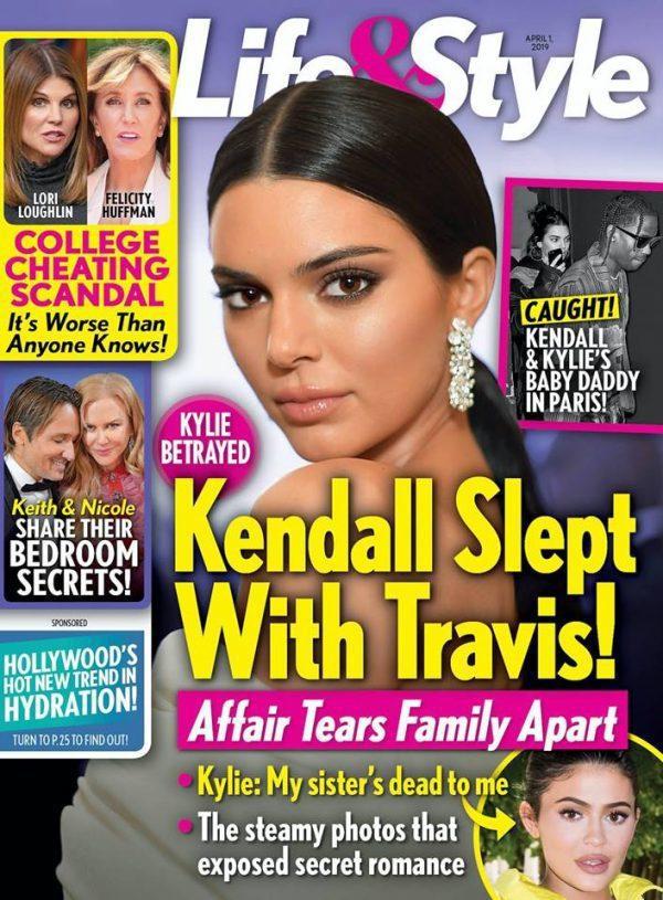 肯達兒詹納被八卦雜誌指曾與妹妹凱莉的男友有過親密關係。圖/摘自Life & St