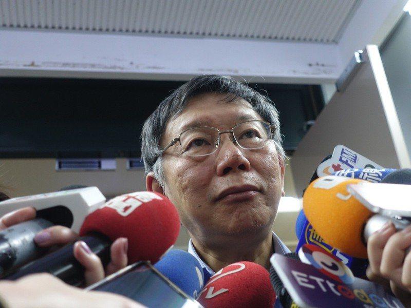 上任後每年都會參加雙城論壇,還曾和國台辦主任張志軍會面過的台北市長柯文哲表示,法要一體適用,要管理可以,但不要管太多。記者邱瓊玉/攝影