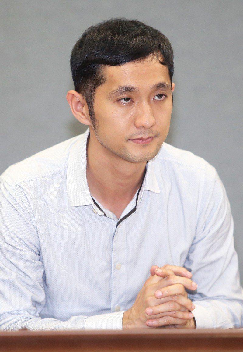 沃草前執行長柳林瑋在今年四月出席「台北市政府公民參與委員會」第一次大會。記者高彬原/攝影