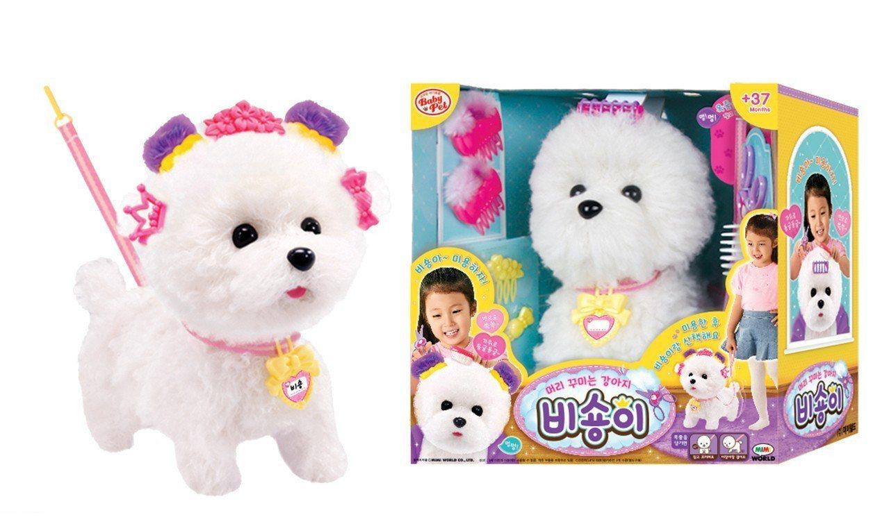 玩具反斗城MIMI WORLD甜心沙龍比熊犬,特價799元。圖/Yahoo奇摩超...