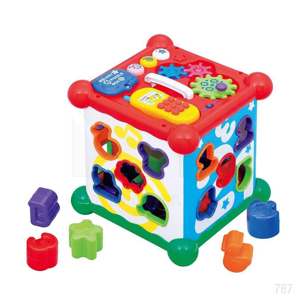 Yahoo奇摩購物中心兒童玩具熱銷第四名:日本樂雅Toyroyal聲光積木六面盒...