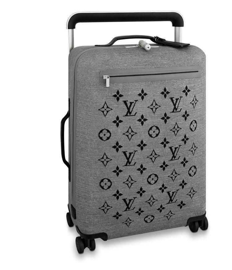 麻灰色四輪針織軟質手推式行李箱,售價10萬4,000元。圖/LV提供