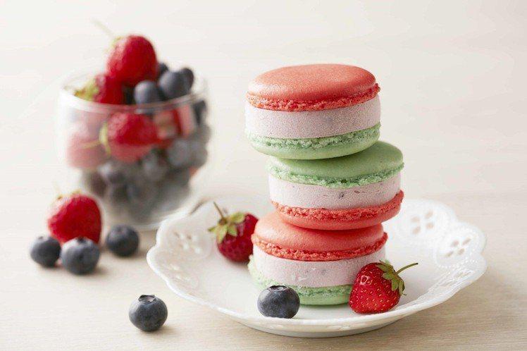 「野莓馬卡龍冰淇淋」售價58元。圖/COLD STONE提供