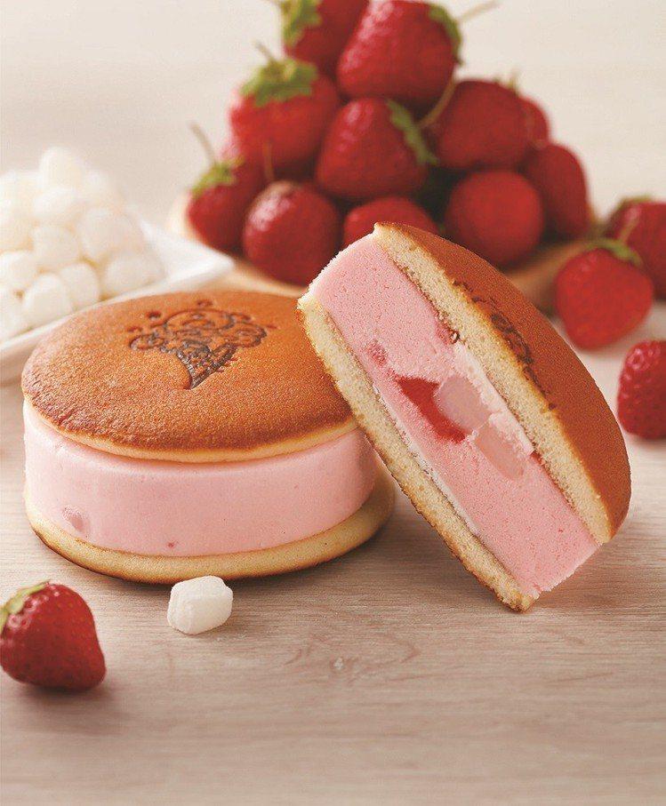 「濃!草莓白玉冰銅燒」售價65元。圖/COLD STONE提供