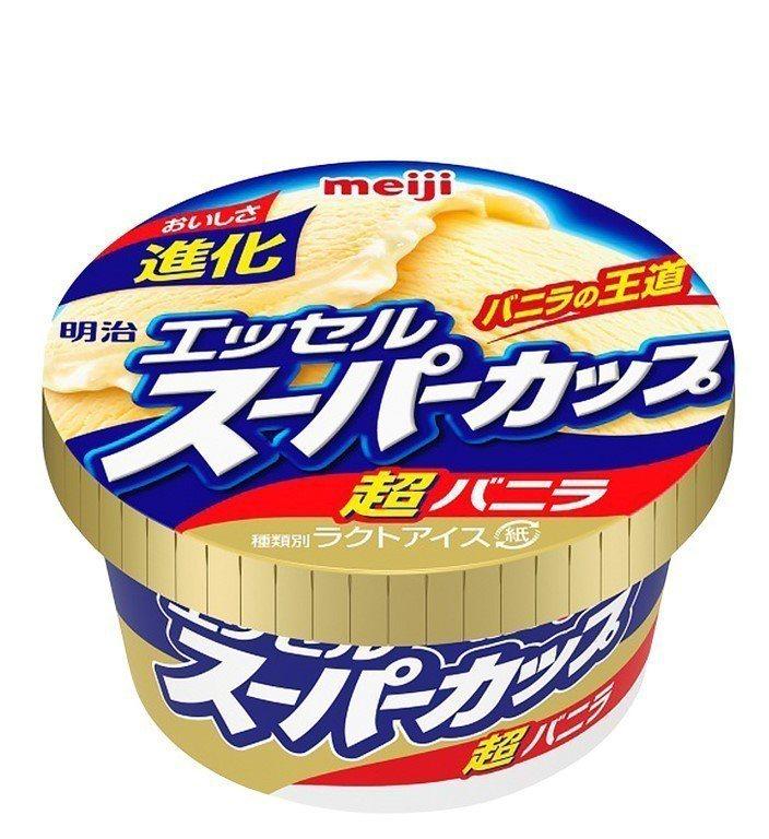 明治超級杯冰淇淋(香草)是日本零售市場冰品TOP 1,售價59元,7-ELEVE...