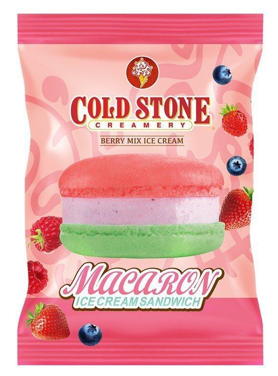 COLD STONE酷聖石「野莓馬卡龍冰淇淋」則是網美系冰品,售價58元,7-E...