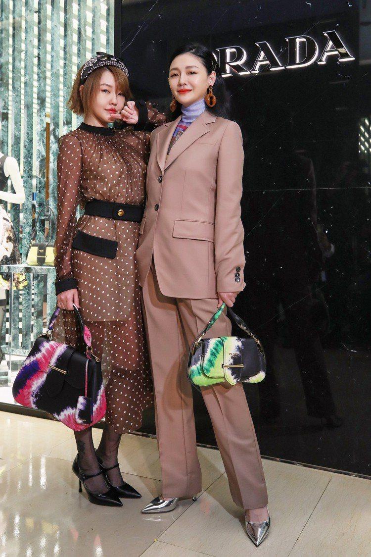 大小S今天出席時尚品牌PRADA活動。圖/PRADA提供