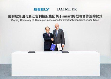 Daimler旗下小車品牌老闆換人 中國吉利取得Smart半數股權!