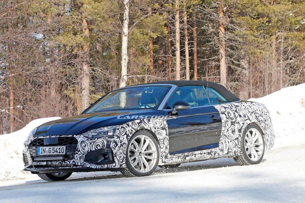 Audi A5 Cabriolet雪地中露臉 可惜太冷了沒開蓬