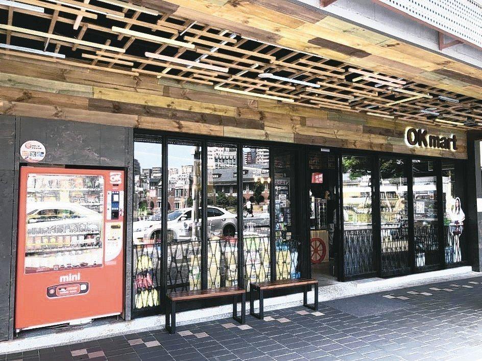 OKmart創新「門市+智能販售機(OKmini),提供24小時不中斷服務。 業...