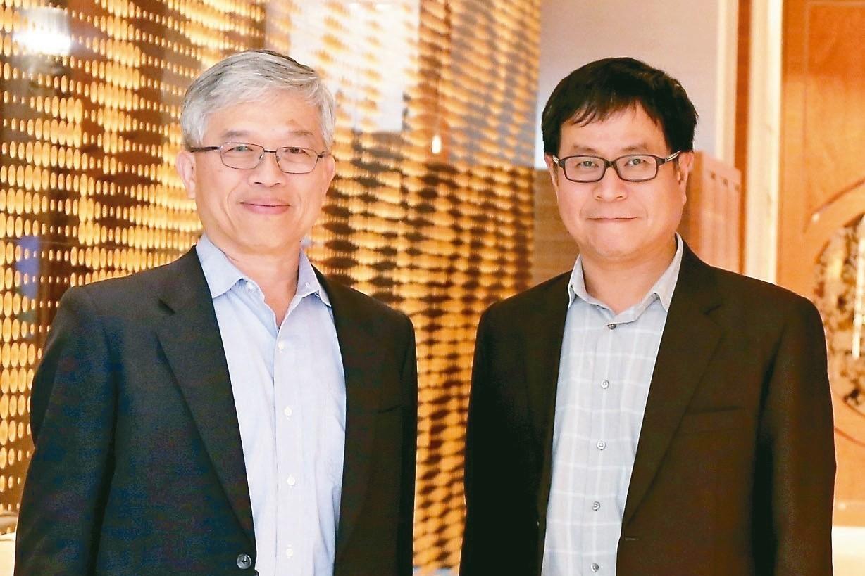 貿聯董事長梁華哲(左)與總經理鄧劍華 貿聯╱提供