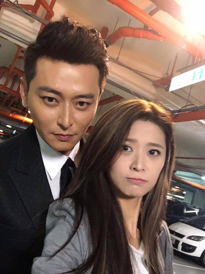 陳冠霖與李燕在「炮仔聲」演一對恩愛夫妻。 圖/擷自陳冠霖臉書