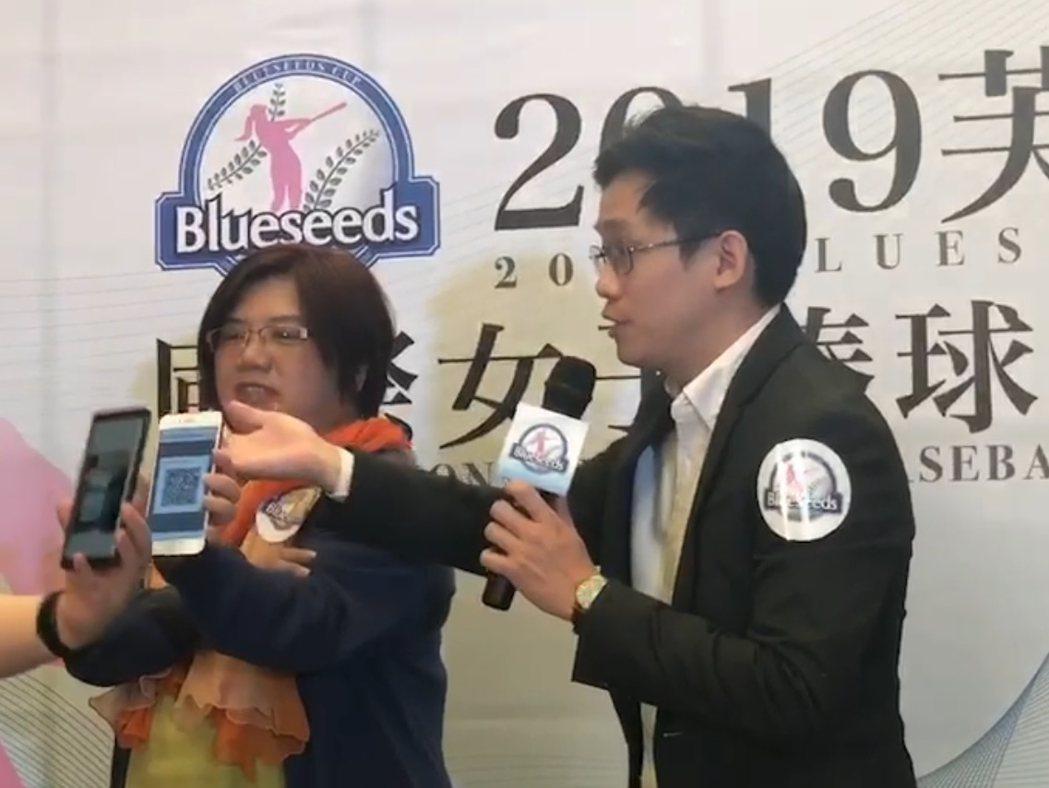 芙彤園創辦人詹茹惠(左)與Fusion$360汴文俊業務經理 (右)受訪。