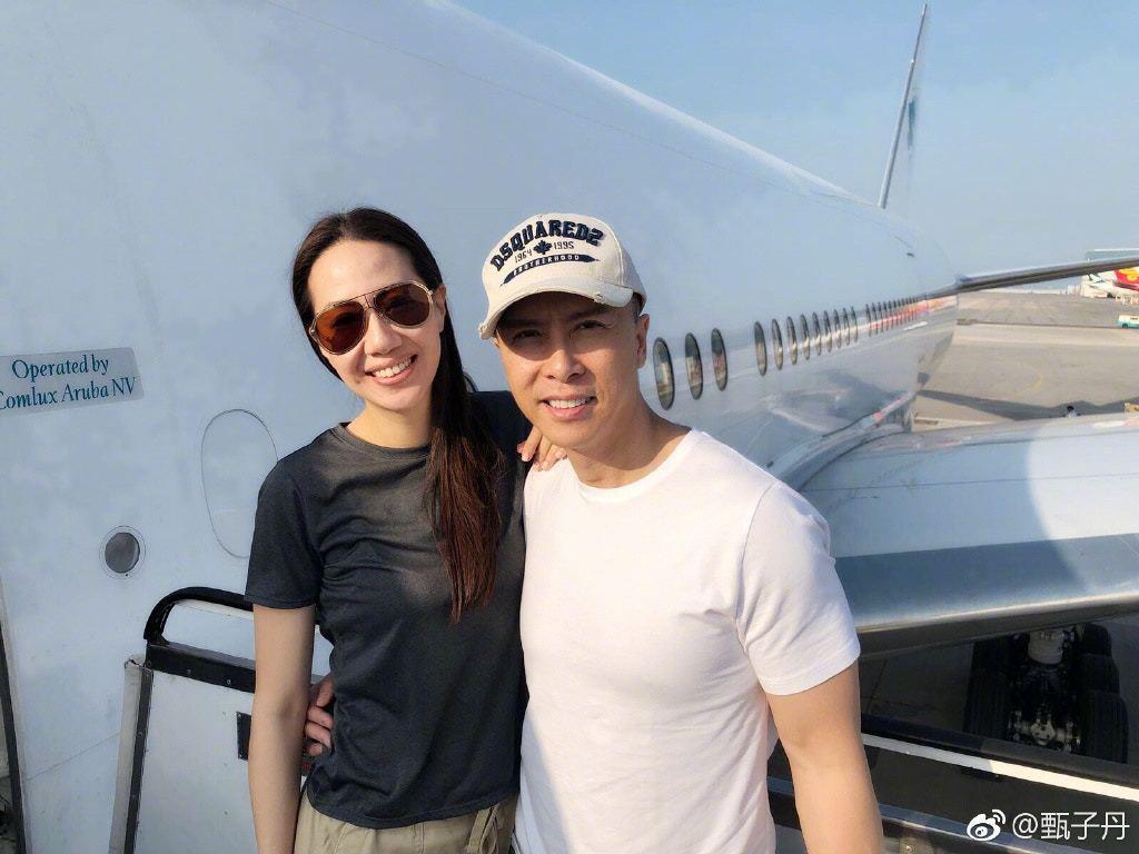 甄子丹與老婆汪詩詩。圖/擷自微博