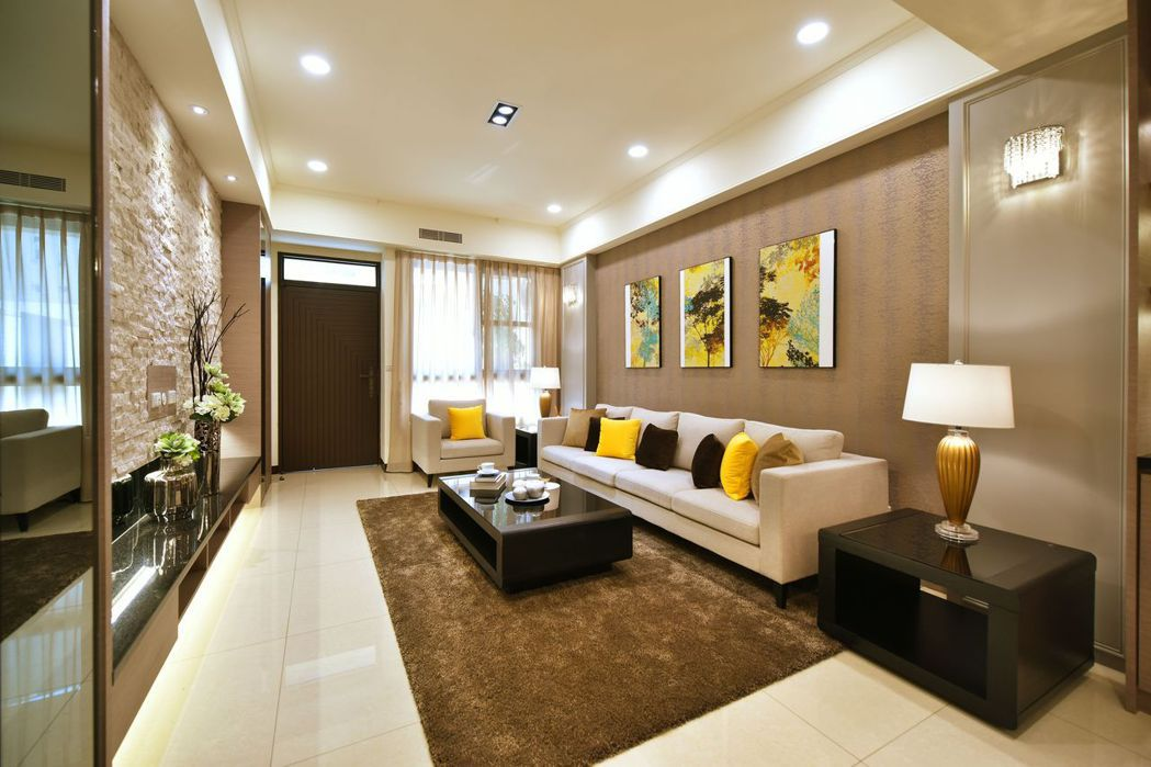 豪氣迎賓大客廳‧全家歡聚闔家歡。圖片提供/文陽鑫建設