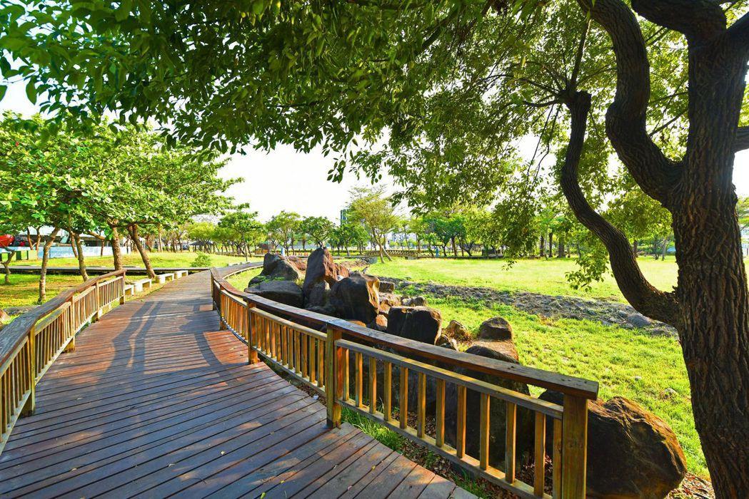7000坪灣北公園鄰距離‧天天日行萬步養生墅。圖片提供/文陽鑫建設