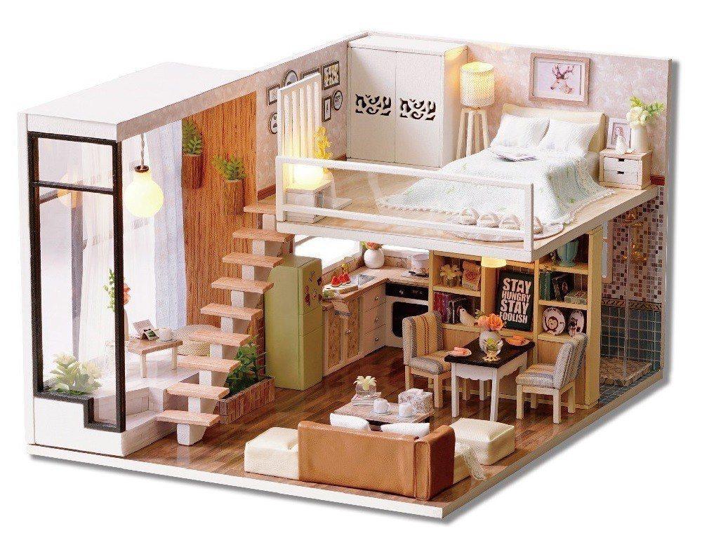 蝦皮購物推薦大人最愛療癒玩具「DIY袖珍娃娃屋模型」。 蝦皮購物/提供