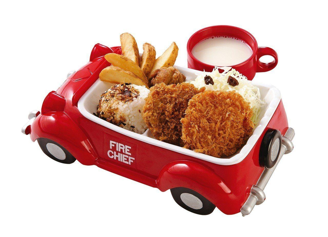 勝政豬排、勝勢豬排均有推出兒童套餐,每份200元。圖/慕里諾集團提供