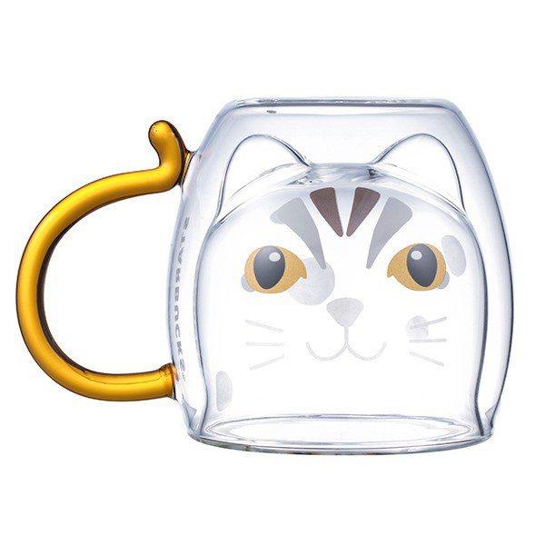 石虎把手雙層玻璃杯,售價600元。圖/星巴克提供