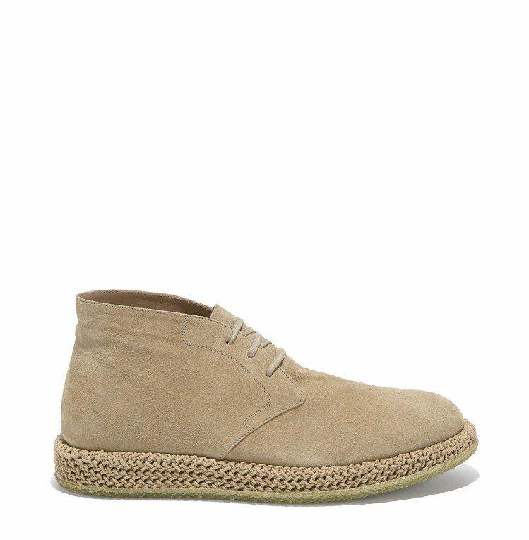 米色麂皮休閒鞋,價格未定。圖/Ferragamo提供