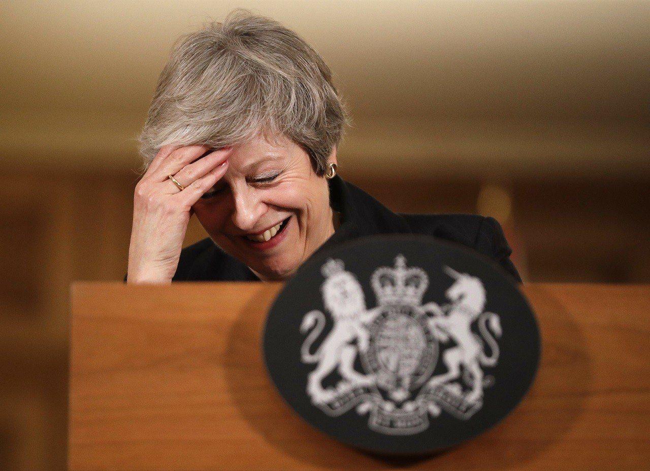 英國首相梅伊2018年11月15日在首相官邸舉行記者會。英美媒體盤點梅伊辭相的6...
