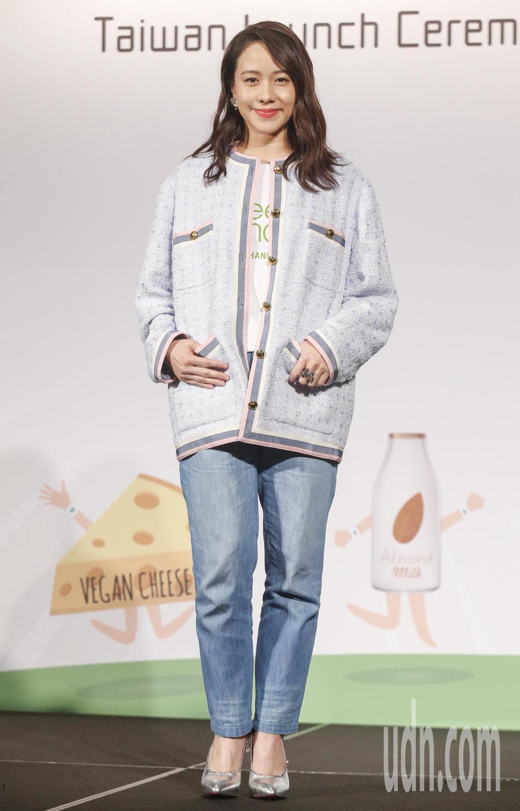 金馬女星林嘉欣下午參加Green Monday台灣啟動記者會,分享自己每周一素食