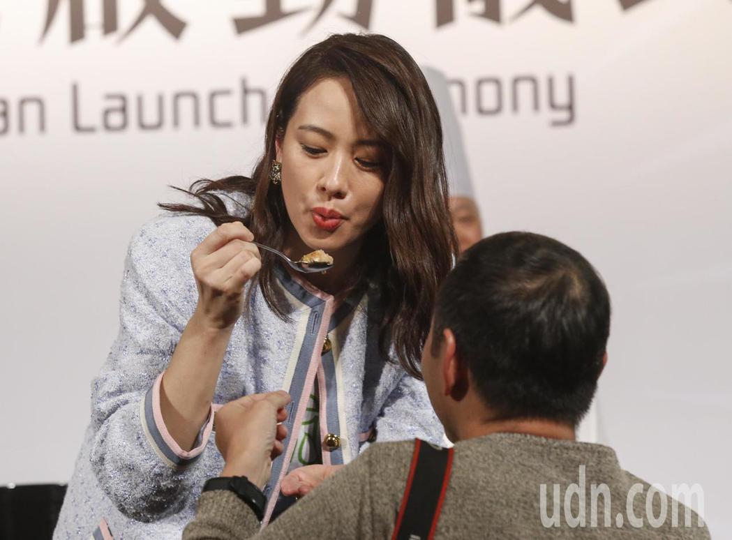 金馬女星林嘉欣下午參加Green Monday台灣啟動記者會,分享自己每周一素食...