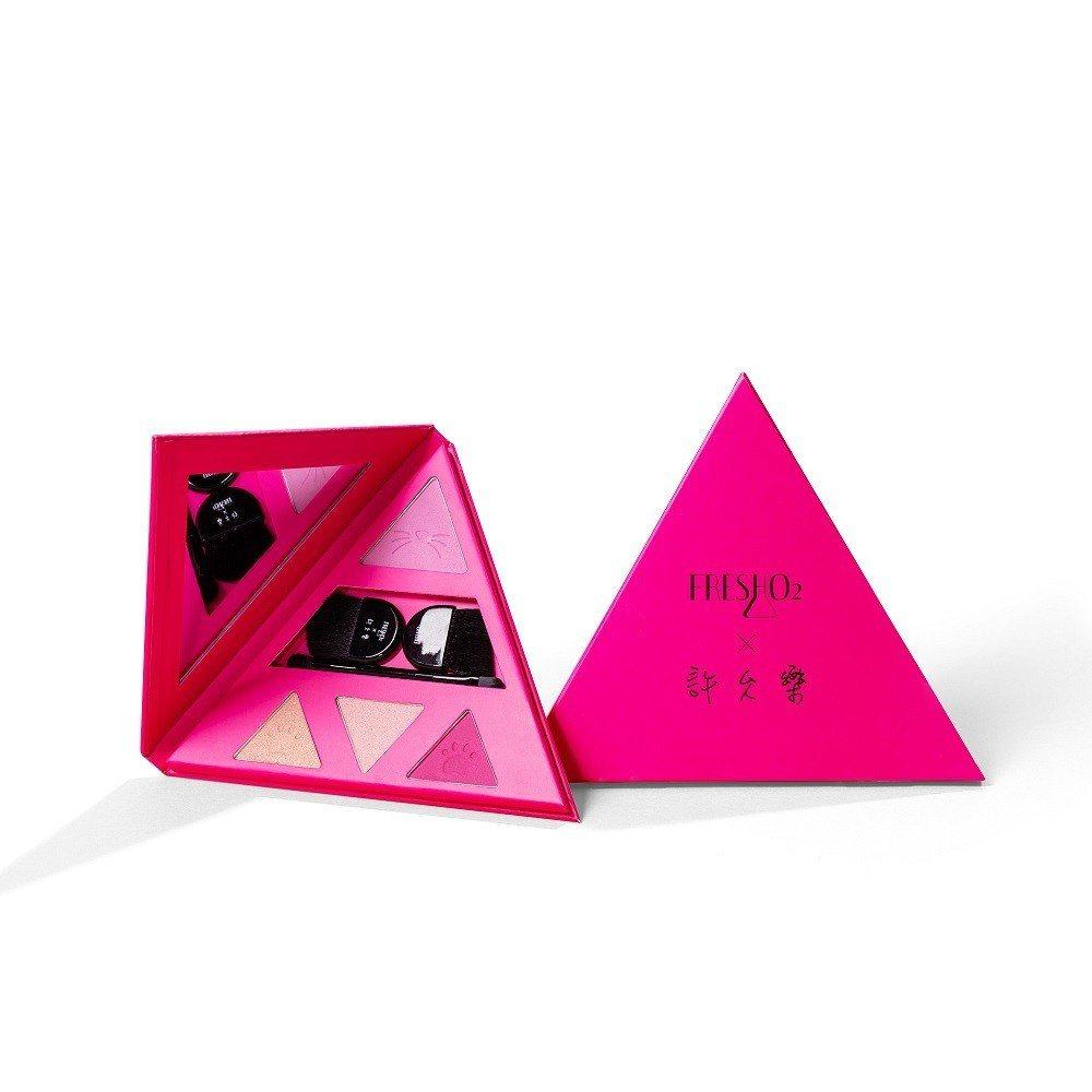 FreshO2 X許允樂我的獨特角度聯名系列30°微笑桃粉色#401,售價780...