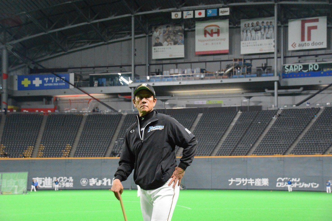 日職火腿隊監督栗山英樹。記者蘇志畬/日本札幌攝影