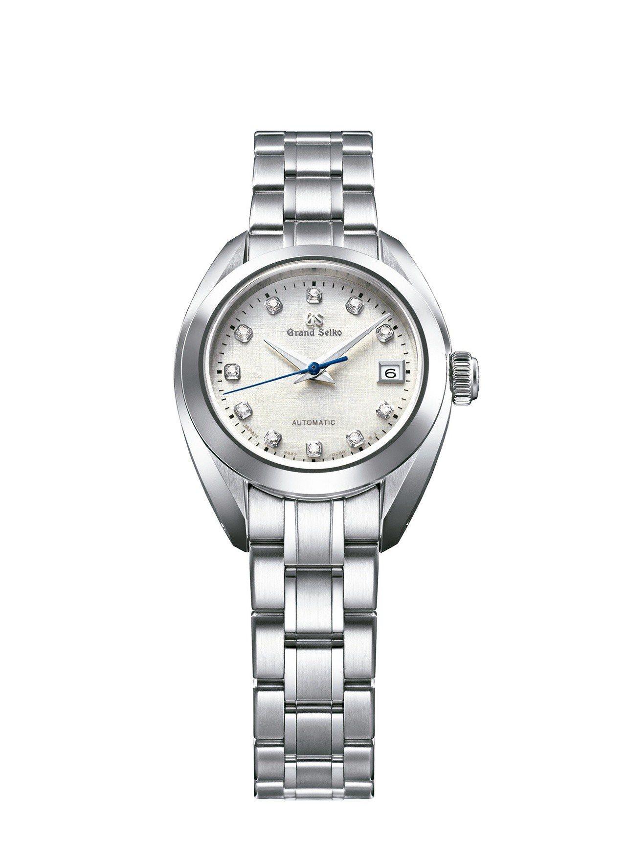 Grand Seiko 女士自動上鍊腕表,不鏽鋼表殼搭配鑽石時標,約18萬7,6...