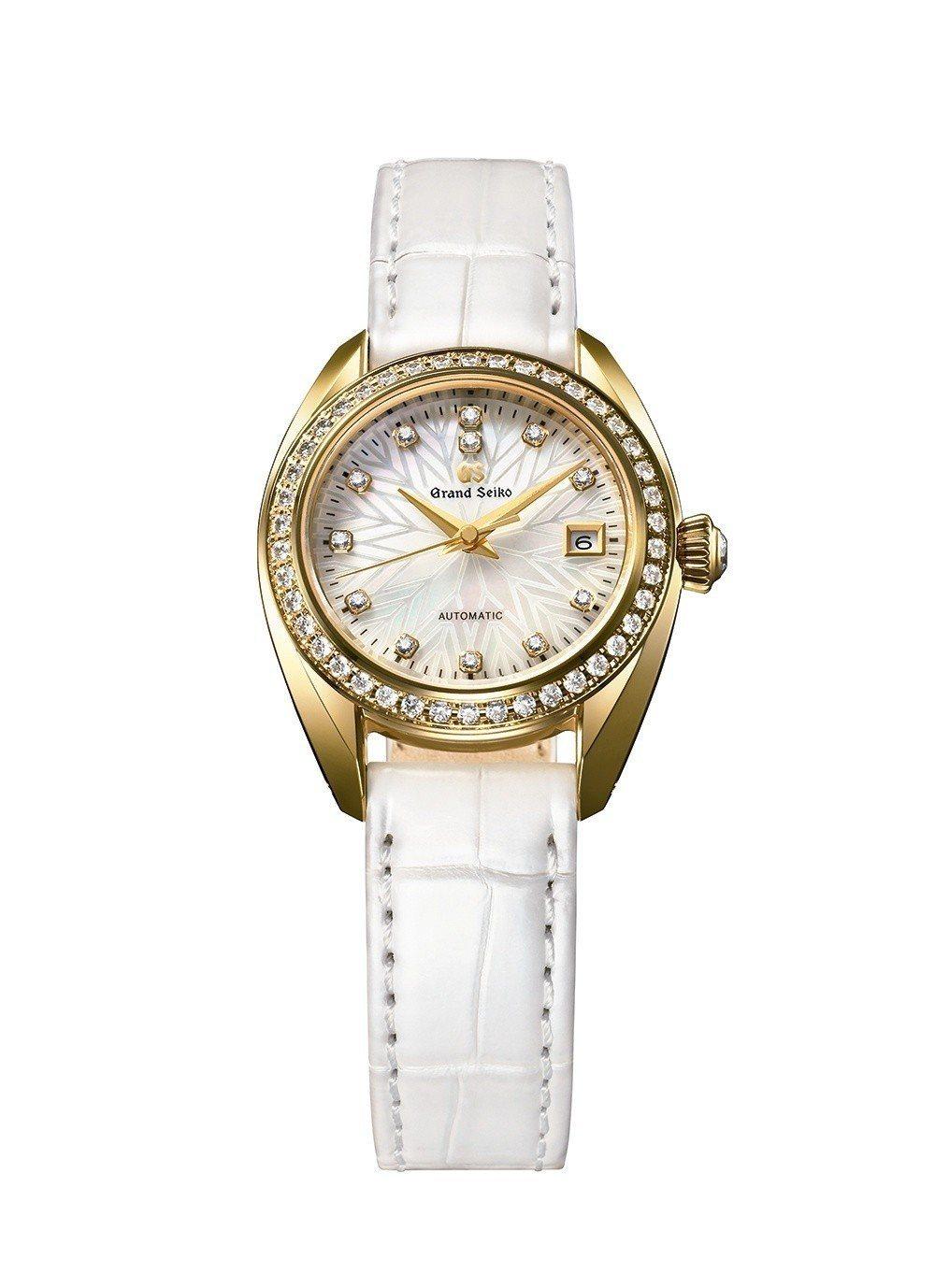 Grand Seiko女士自動上鍊腕表,18K黃金表殼,搭配鑲鑽表圈,約100萬...