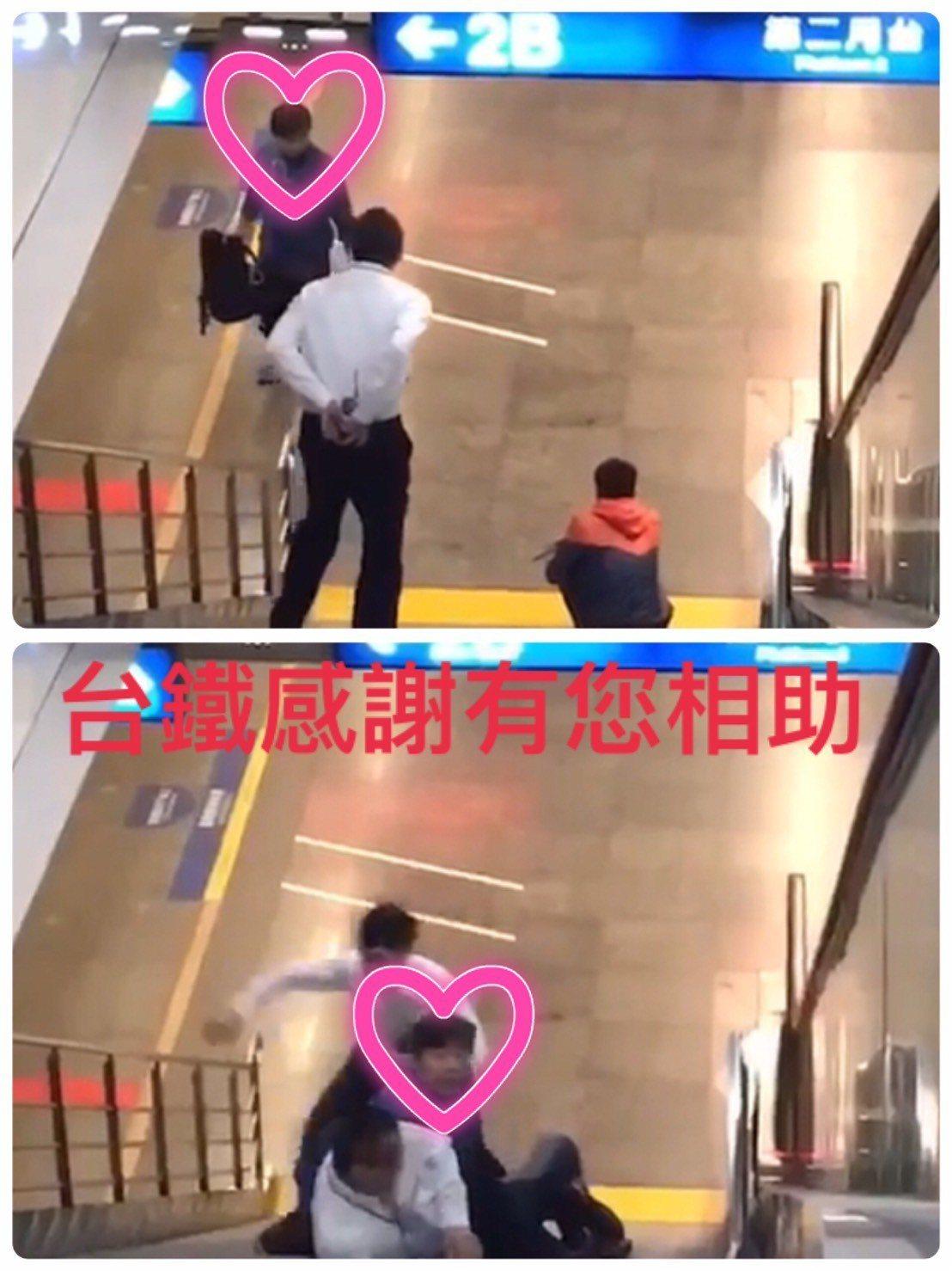 熱心助人的鄭姓民眾事後被網友成為「正義哥」「背包客」,他今天接受鐵路警察局致謝,...