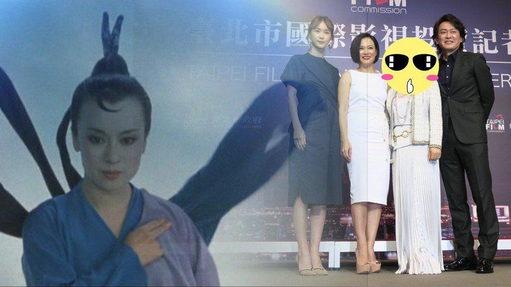 翁倩玉返台拍戲。圖/摘自HKMDB、記者蘇詠智攝影
