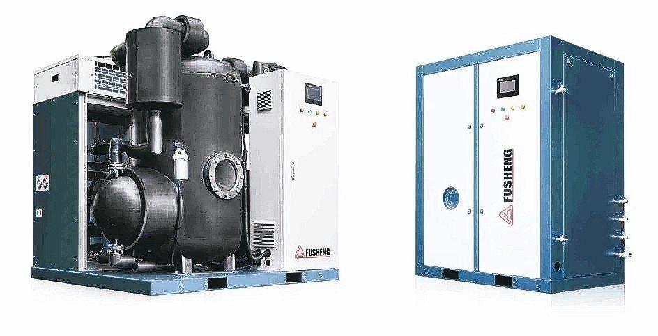 「真空蒸餾機」處理節能減廢成效顯著,獲選為經濟部綠色技術推廣標的。 復盛公司/提...