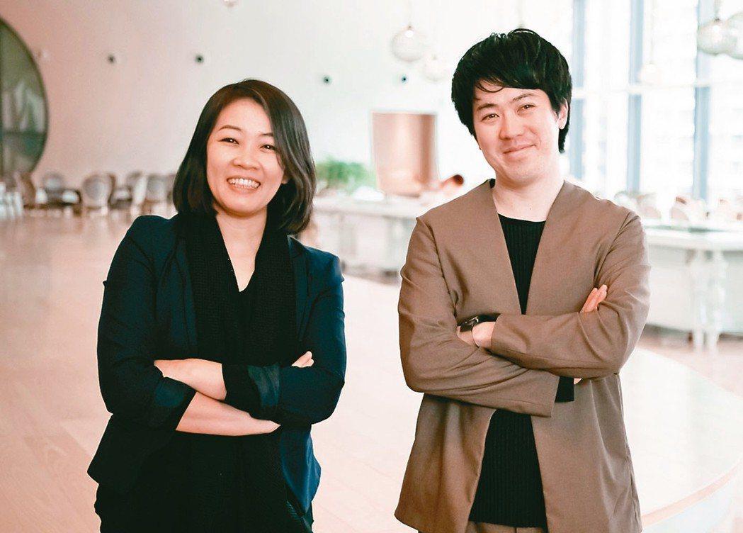總太地產董事長翁毓羚(左)與日本建築大師百枝優(右),此次跨國合作新案「共好ME...