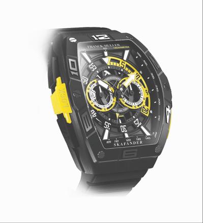 腕錶設計靈感源自羅馬尼亞1930年代面世的Skafander潛水衣,而由鈦金屬製...