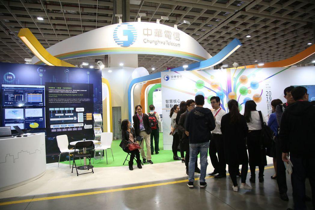 中華電信今年以最大規模和亮點參加智慧城市展秀堅強實力 毛洪霖/攝影