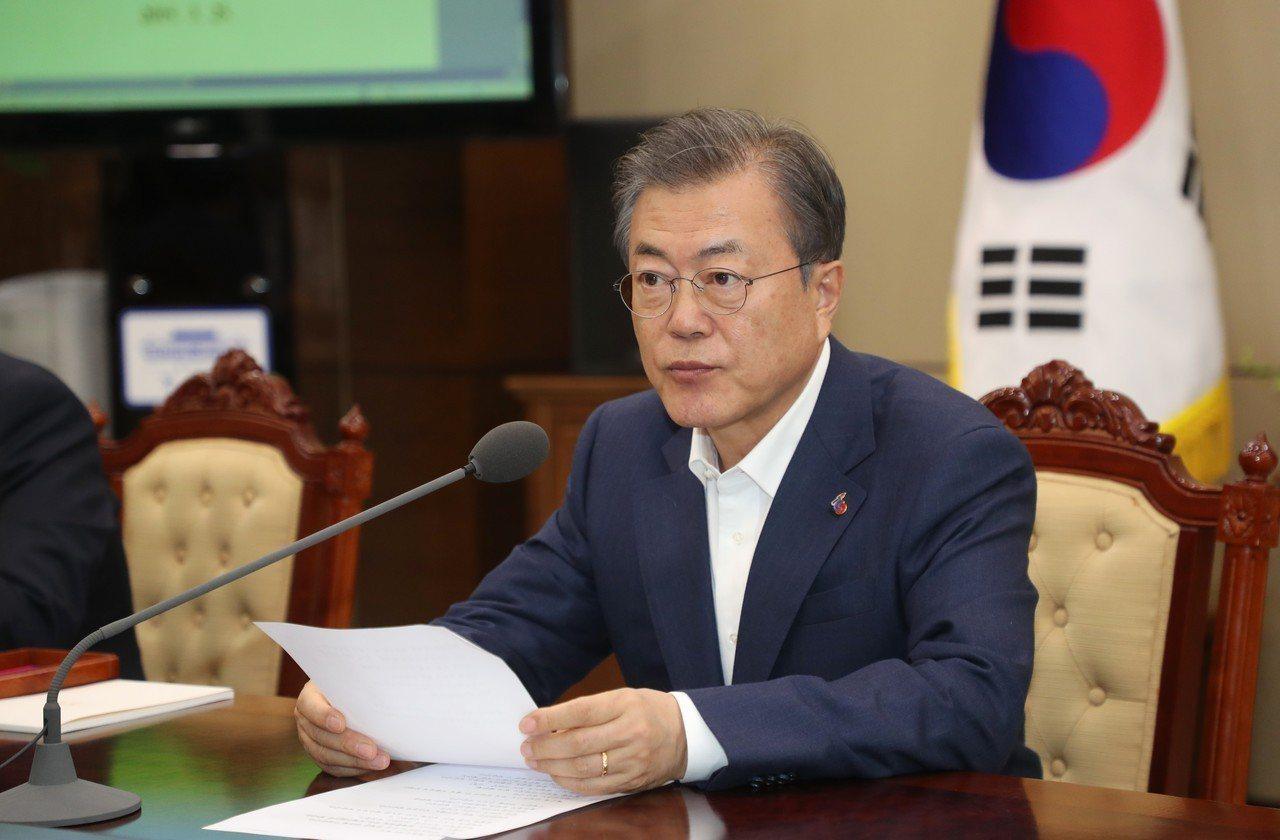 南韓總統文在寅。歐新社
