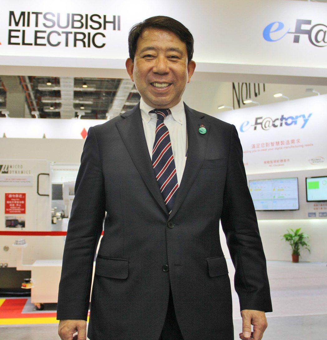 日本三菱電機產業機電事業部事業部長氷見德昭。 戴辰/攝影