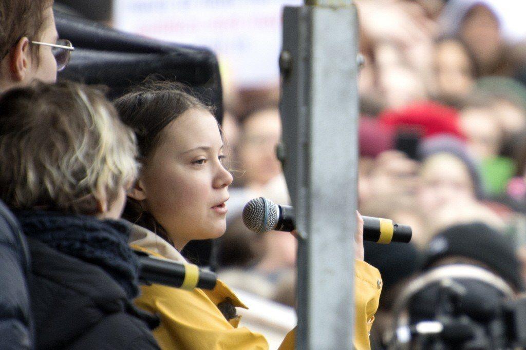 16歲瑞典女孩葛莉塔發起氣候罷課,她也是《瑞典日報》在2018年5月舉行的氣候辯...