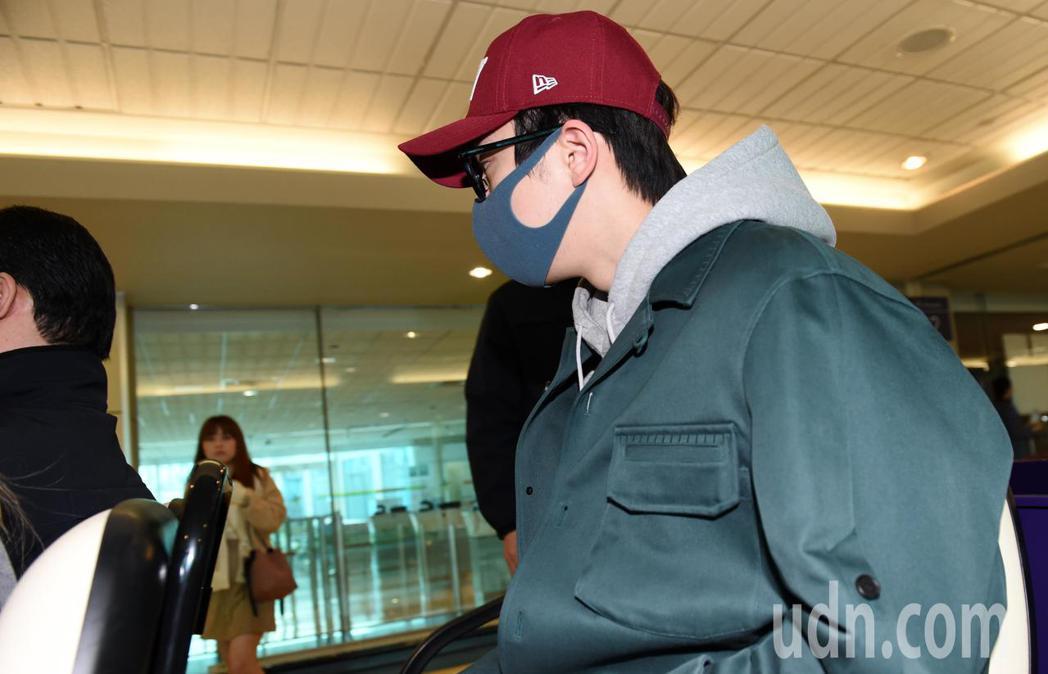 韓星南柱赫上午抵台。記者鄭超文/攝影