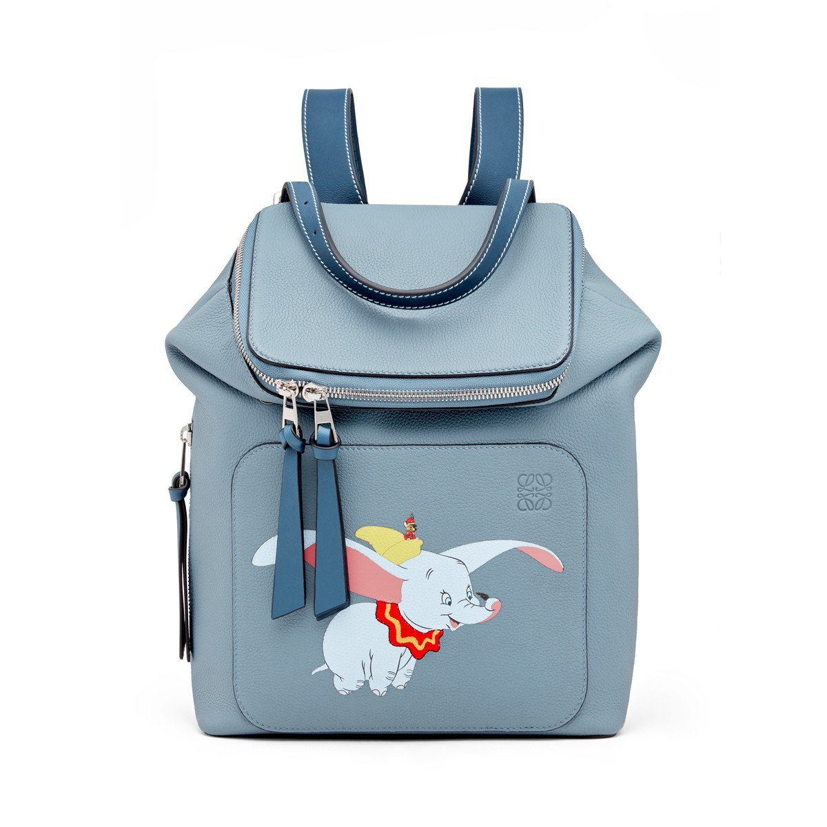 Goya石藍色小牛皮後背包(小),售價81,000元。圖/LOEWE提供