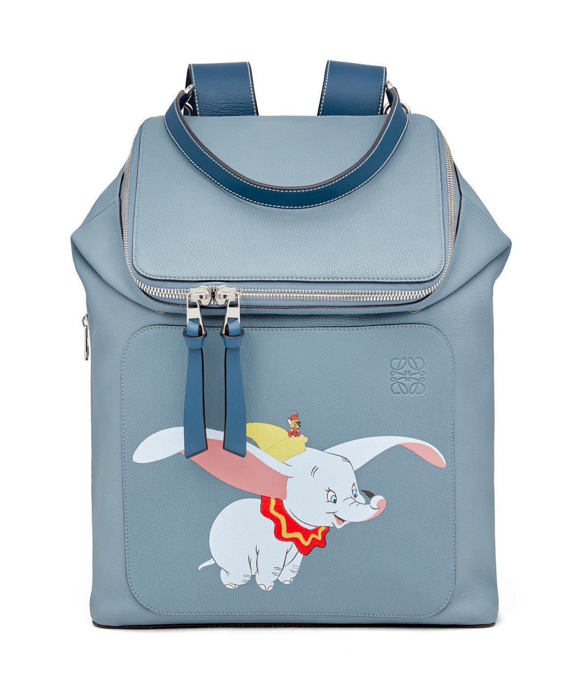 Goya石藍色小牛皮後背包,售價11萬1,000元。圖/LOEWE提供