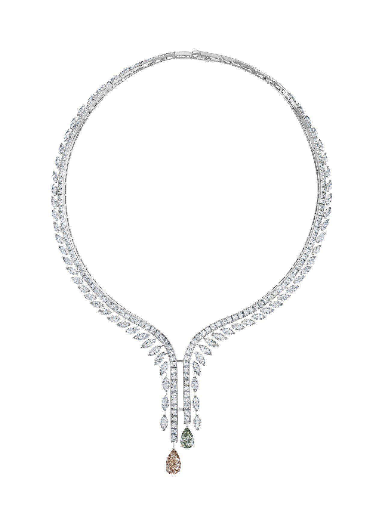 De Beers Cupid高級珠寶鑽石項鍊,約2,310萬元。圖/De Bee...