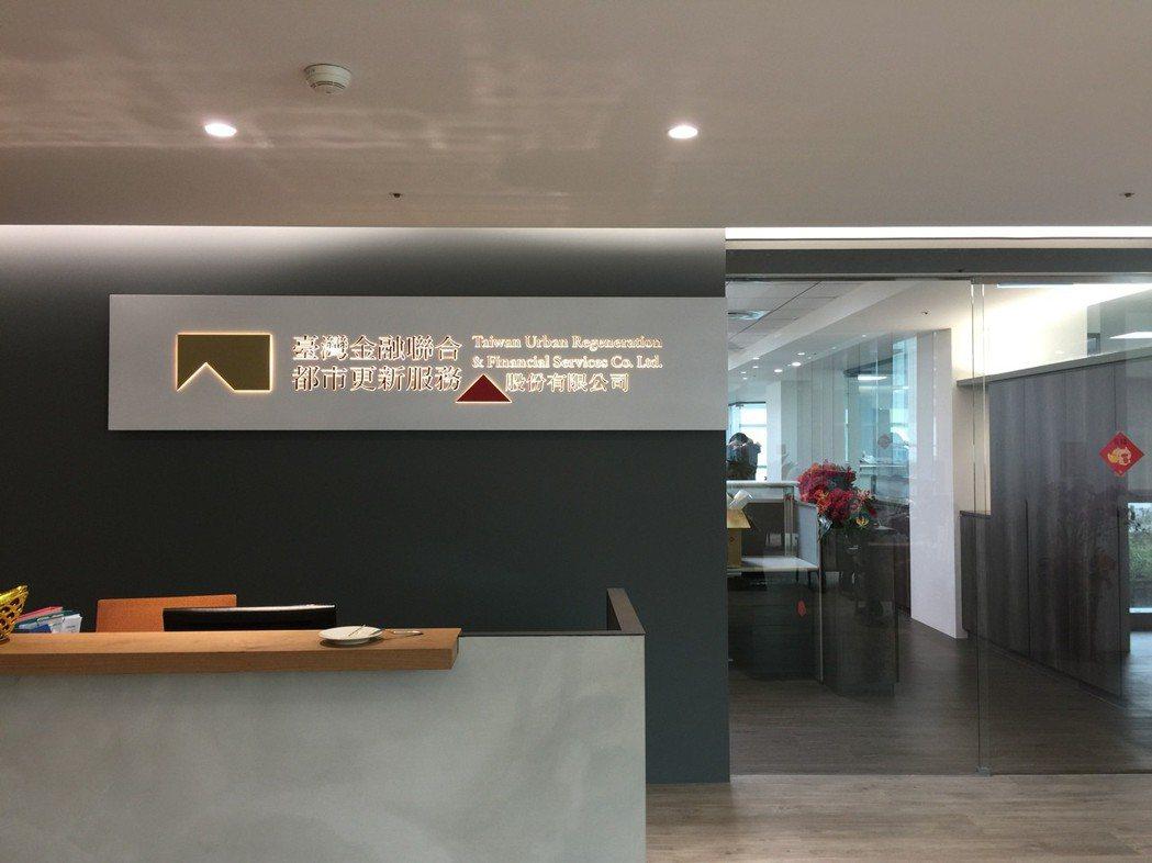 台灣金融聯合都市更新服務公司辦公室。記者張語羚/攝影