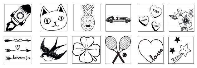 包身可選擇的12種燙印圖騰。圖/LONGCHAMP提供