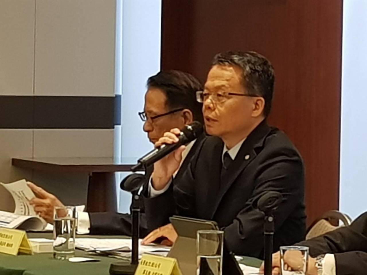 長榮航空總經理孫嘉明對今年營運有信心 。 記者黃淑惠/攝影