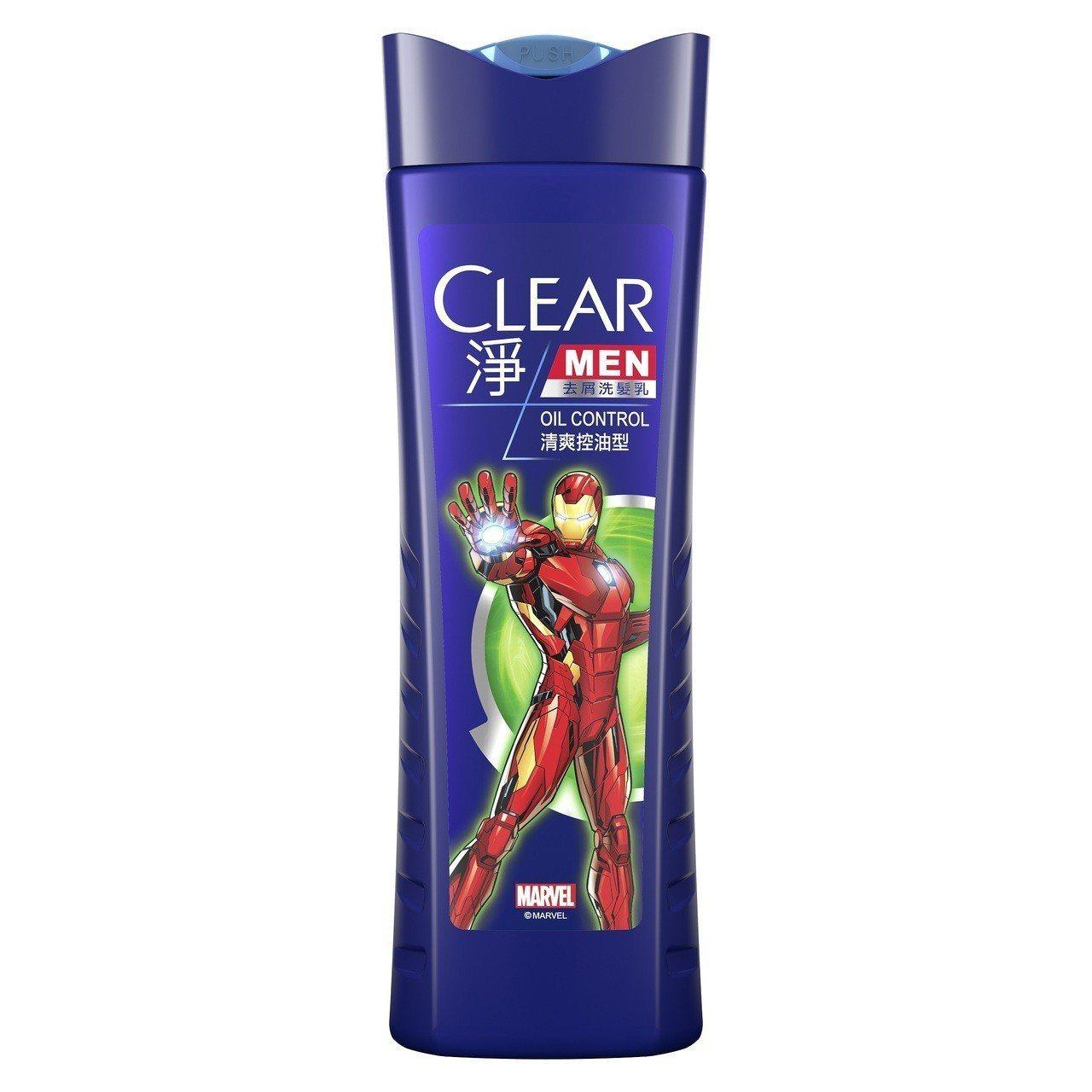 CLEAR淨男士去屑洗髮乳清爽控油型「鋼鐵人版」7-ELEVEN獨家限量小包裝,...