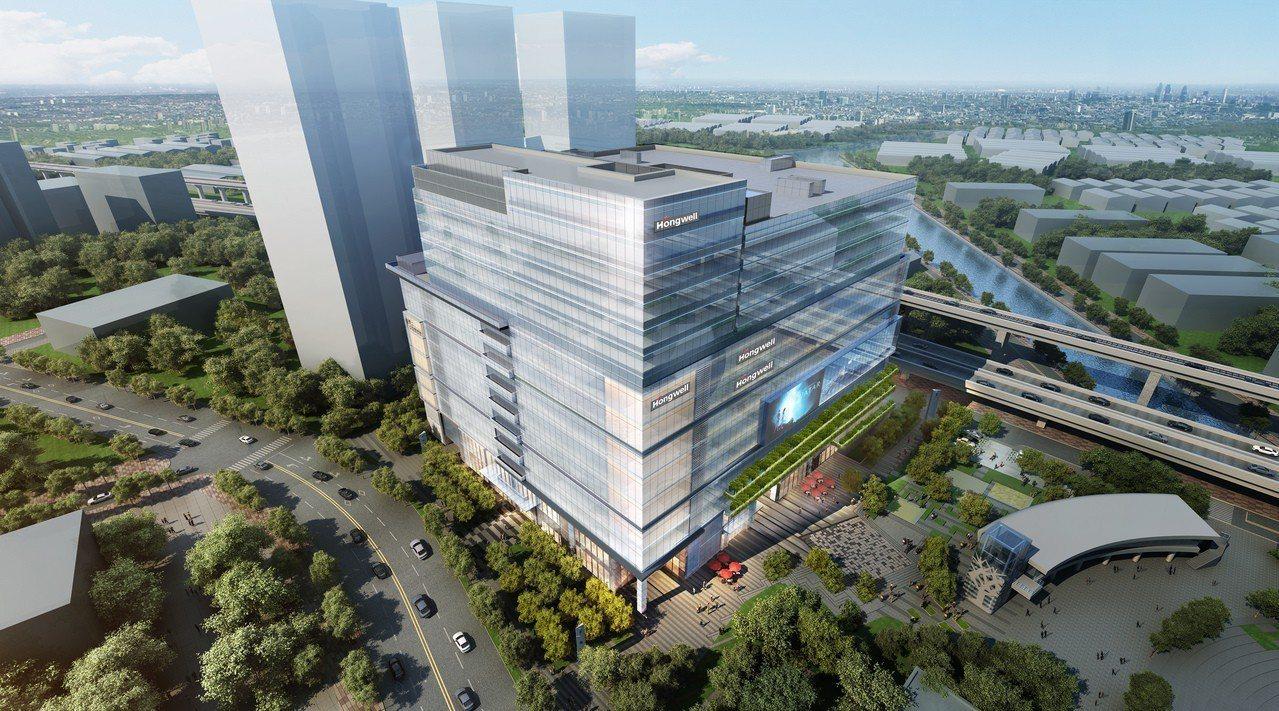 新莊Au捷運商城招商案「宏匯廣場(HONHUI PLAZA)」預計明年3月完工營...