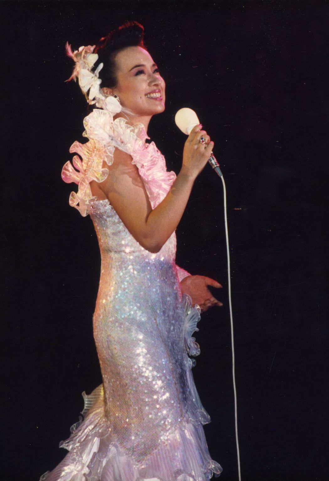 翁倩玉的歌藝風靡日本與華人區的聽眾。圖/報系資料照片